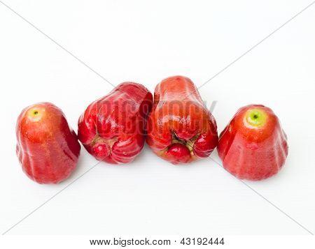Rose Apples (syzygium Jambos ) Isolated On White Background