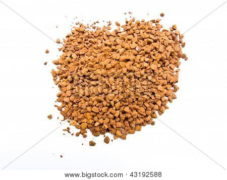 Instant Coffee Topview Isolated On White Background