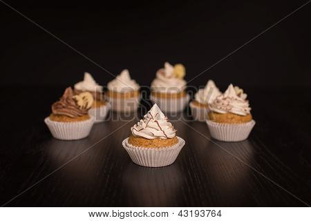 Vegan Cupcakes Infront Of Dark Background