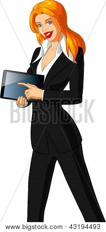 Businesswoman Holding An Ipad
