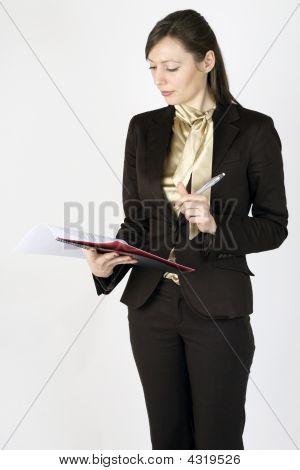 junge geschäftsfrau Revision Datei