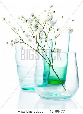 Vintage Glasses With Flowers