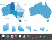 Australia - highly detailed map.All elements are separated in editable layers clearly labeled. Vect