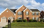image of manicured lawn  - Two Story Brick House - JPG