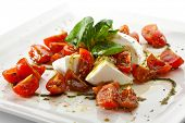 Caprese Salad - Salad with Tomatoes, Mozzarella Cheese, Balsamic