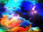 Постер, плакат: Фрактальная частицы краски