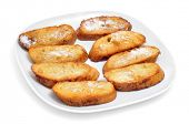 picture of lent  - closeup of a plate with torrijas - JPG