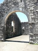 Arch In The Ruins Of The Historic Trial Bay Gaol Nsw Australia poster