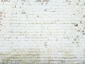 foto of wrecking  - Brick wall background - JPG