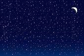 image of starry night  - Vector image of a starry night for background use - JPG