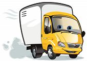foto of delivery-truck  - Vector illustration of cartoon delivery  - JPG