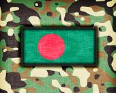 image of ami  - Amy camouflage uniform with flag on it Bangladesh - JPG
