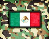 image of ami  - Amy camouflage uniform with flag on it Mexico - JPG