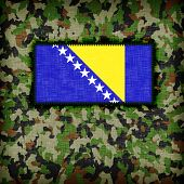pic of ami  - Amy camouflage uniform with flag on it Bosnia and Herzegovina - JPG