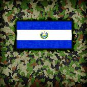 picture of ami  - Amy camouflage uniform with flag on it El Salvador - JPG