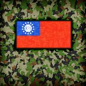 foto of ami  - Amy camouflage uniform with flag on it Myanmar - JPG