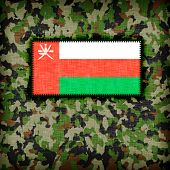 image of ami  - Amy camouflage uniform with flag on it Oman - JPG