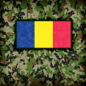 picture of ami  - Amy camouflage uniform with flag on it Romania - JPG