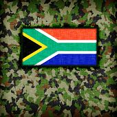 pic of ami  - Amy camouflage uniform with flag on it South Africa - JPG