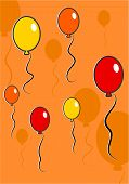stock photo of dtp  - birthday balloons background design - JPG