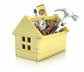 stock photo of pliers  - House toolbox - JPG