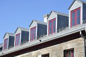 picture of gabled dormer window  - Roof of an old building - JPG