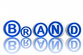 Brand In Blue Circles poster