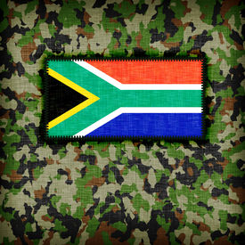 foto of ami  - Amy camouflage uniform with flag on it South Africa - JPG