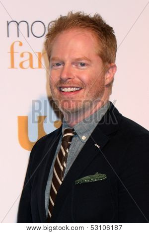 LOS ANGELES - OCT 28:  Jesse Tyler Ferguson at the Modern Family on USA Network Fan Appreciation Event at Village Theater on October 28, 2013 in Westwood, CA
