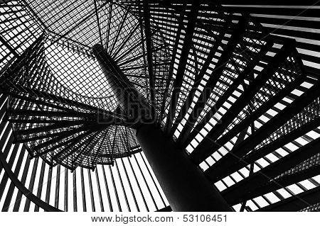 Metal Modern Spiral Staircase Details