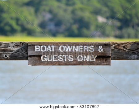 Boat Owners Sign 2