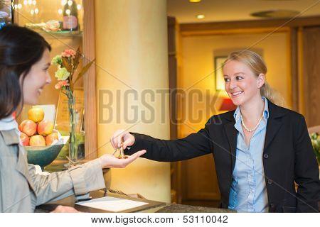 Smiling Friendly Hotel Receptionist