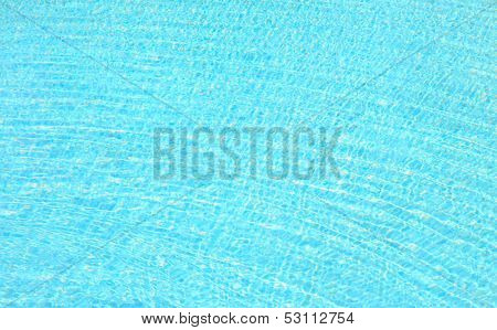 Refection of Blue water surface in Swimming pool with Ripple