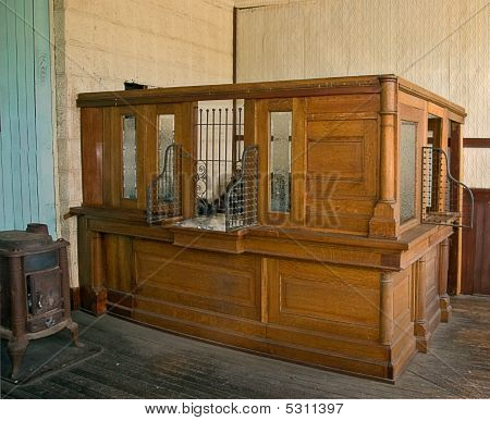 Antique Bank Teller Station