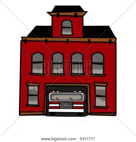 firehouse image   photo bigstock firehouse clipart free School Bus Clip Art
