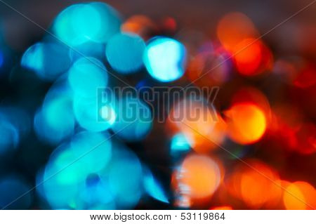 Blue and red bokeh