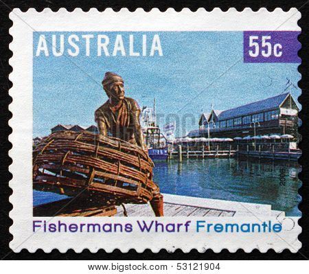 Postage Stamp Australia 2008 Fishermans Wharf, Fremantle