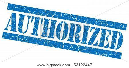 Authorized Grunge Blue Stamp