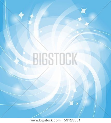 Blue bright background with twist. Vector illustration. Eps 10