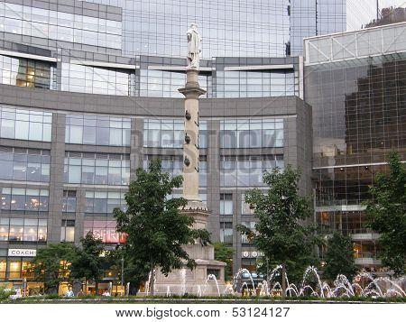 Columbus Circle in New York City