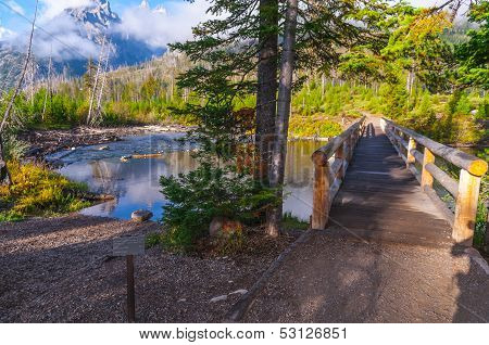 Footbridge Over String Lake