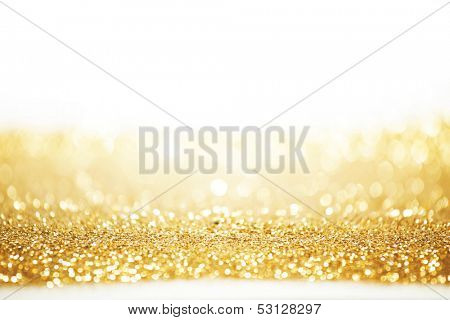 Abstract gold background with white copy space