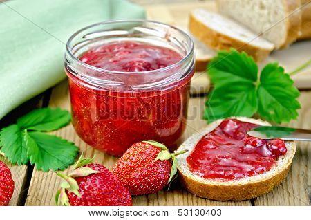 Jam Strawberry With Bread