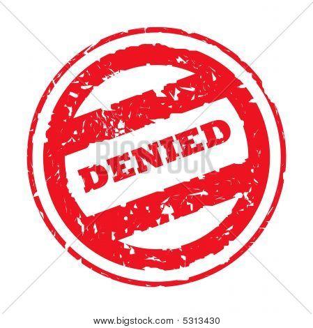Denied Red Stamp