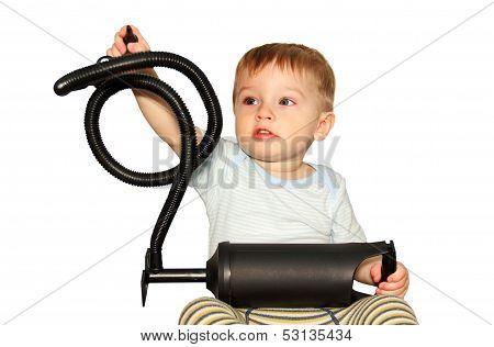 Little Boy With A Big Toy.