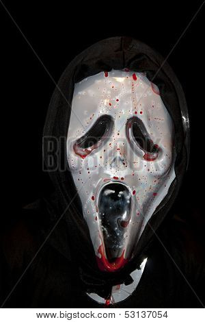 Halloween Mask Splattered In Blood