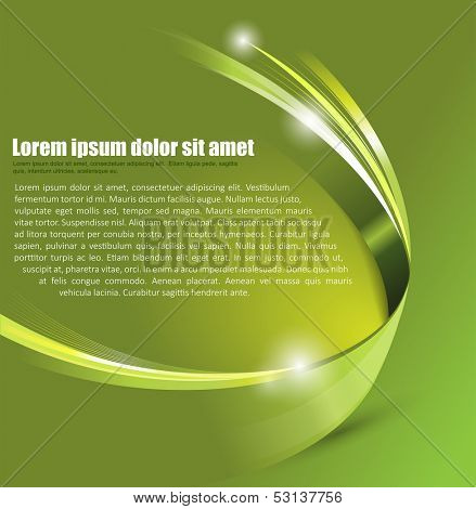 Universal Green abstract vector background with 3D effect for a brochure, poster, flyer or cover
