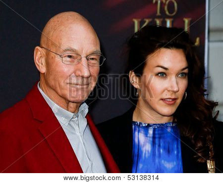 NEW YORK- OCT 20: Actor Patrick Stewart and daughter Sophie Alexandra Stewart attend the Broadway opening night of 'A Time To Kill' at The Golden Theatre on October 20, 2013 in New York City.