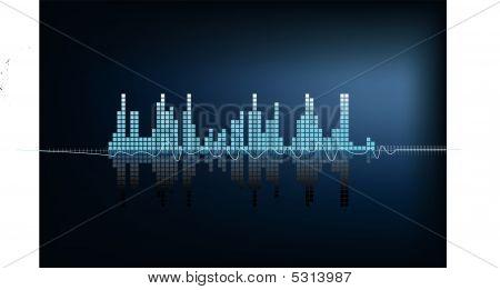 Soundwave On Blue