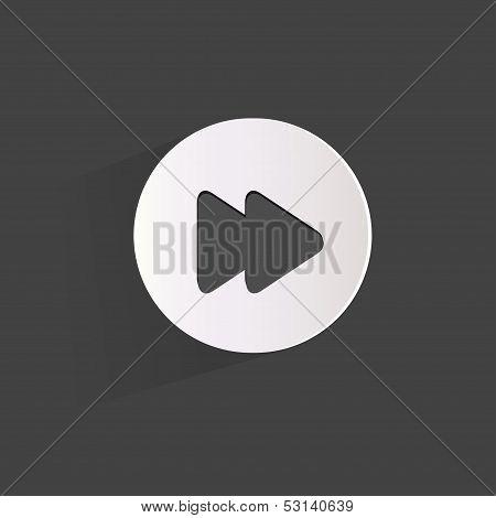 Forward or skip web icon